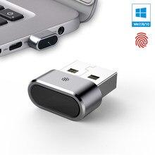 Kercan KE-02 mini usb módulo de leitor de impressão digital, de alumínio para windows 7, 8 10 hello 360 chave de segurança biométrica multi do toque