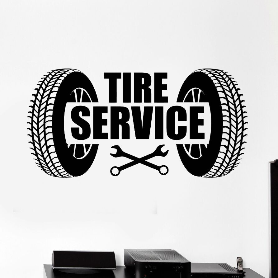 Detail Feedback Questions About Vinyl Wall Decal Car Tire Service