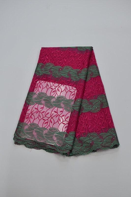 Tissu africain brodé de dentelle de maille tissu français de dentelle de filet 5yds/pc pour la robe de mariée 16. A20 - 4