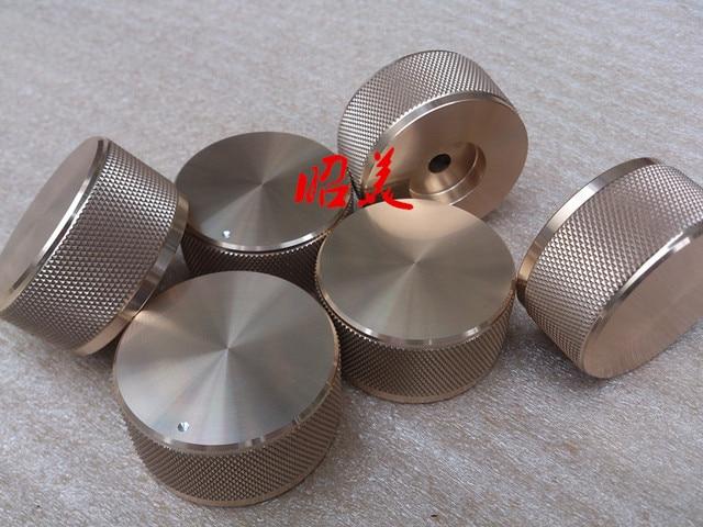 Diameter 44MM high 22MM all aluminum solid volume potentiometer HIFI audio amplifierS knob
