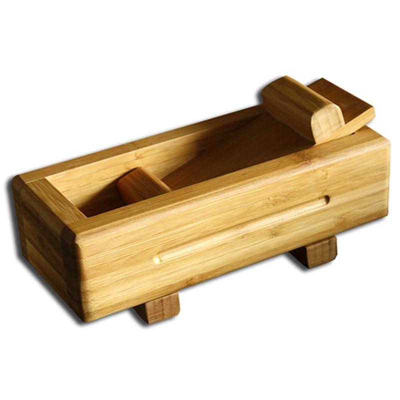 Bricolage Sushi fabricant moule bambou Sushi outils en bois cuisine ustensiles cuisine coupe rouleau rouleau algues Nori riz moule fabricant JJ093