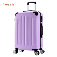 20″22″inch High quality Trolley suitcase luggage traveller case box Pull Rod trunk rolling spinner wheels ABS+PC cabin bag