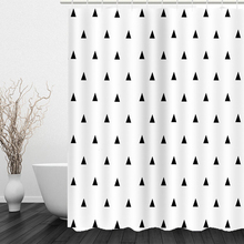 The Modern Concise Style Bathroom Curtain Thickened Polyester Fiber Shower Curtain 3D Digital Printing Bath Curtain With Hooks novelty 3d end of the world digital printing shower curtain for bathroom