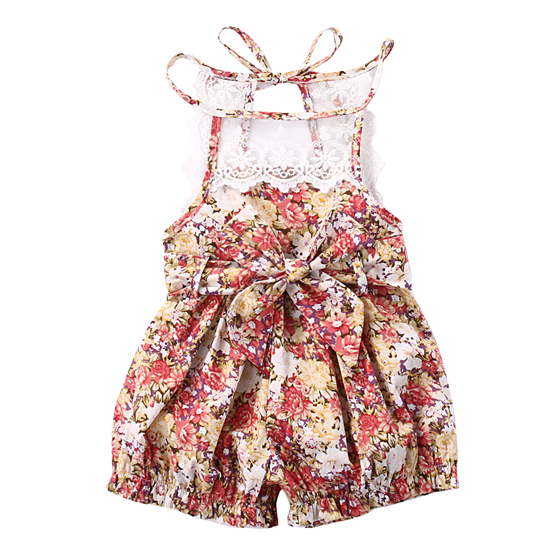 0-24M Newborn Infant Baby Girl Clothes Sleeveless Floral Lace Rompers Jumpsuit Outfits One Pieces Sunsuit 0-24M