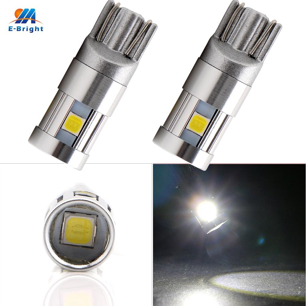 YM E-Bright 2 PCS T10 194 168 W5W 3030 5 SMD LED Canbus Light NO Error Auto Bulbs DC 12V 24V White Car Styling 600Lm