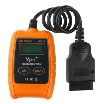 2017 Vgate VC310 OBD2 OBDII EOBD CAN Auto Scanner Code Reader & Cleaner Car Diagnostic Tool VC 310 Scanner With High Quality kw807 2 8 lcd obdii eobd car diagnostic auto scanner red black