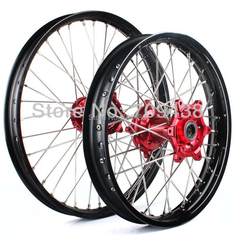 1Set Wheel rim Hub Spoke Motorcycle Wheels Front 21x1.6 ...