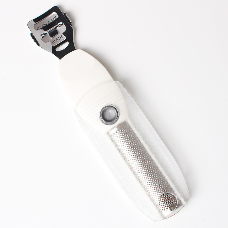 2 In 1 Safety Slide Callus Shaver With Rasp By Connie Cona Dry Rough Skin Scraper Corn Cutter (Plastic Handle)