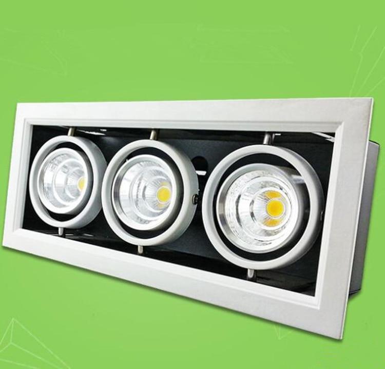 ФОТО Free Shippipng High quality Square 10W/20W/30W COB LED down light COB led Bean pot lamp Recessed COB led Grille lamp 85-265V/AC