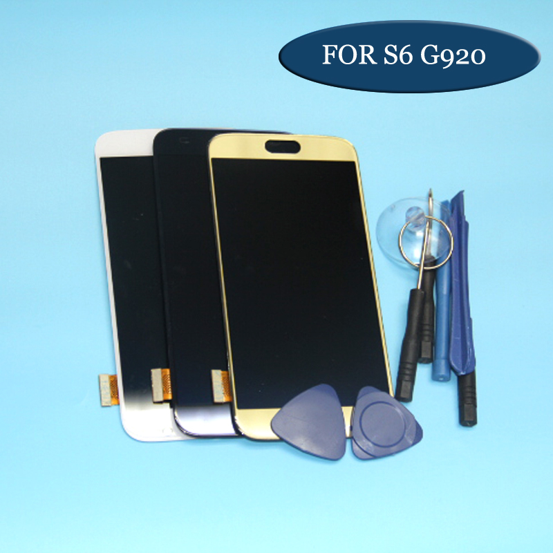 1pcs For <font><b>Samsung</b></font> GALAXY S6 <font><b>G920</b></font> G920F LCD <font><b>Display</b></font> Touch Screen Digitizer Assembly Blue White Gold image