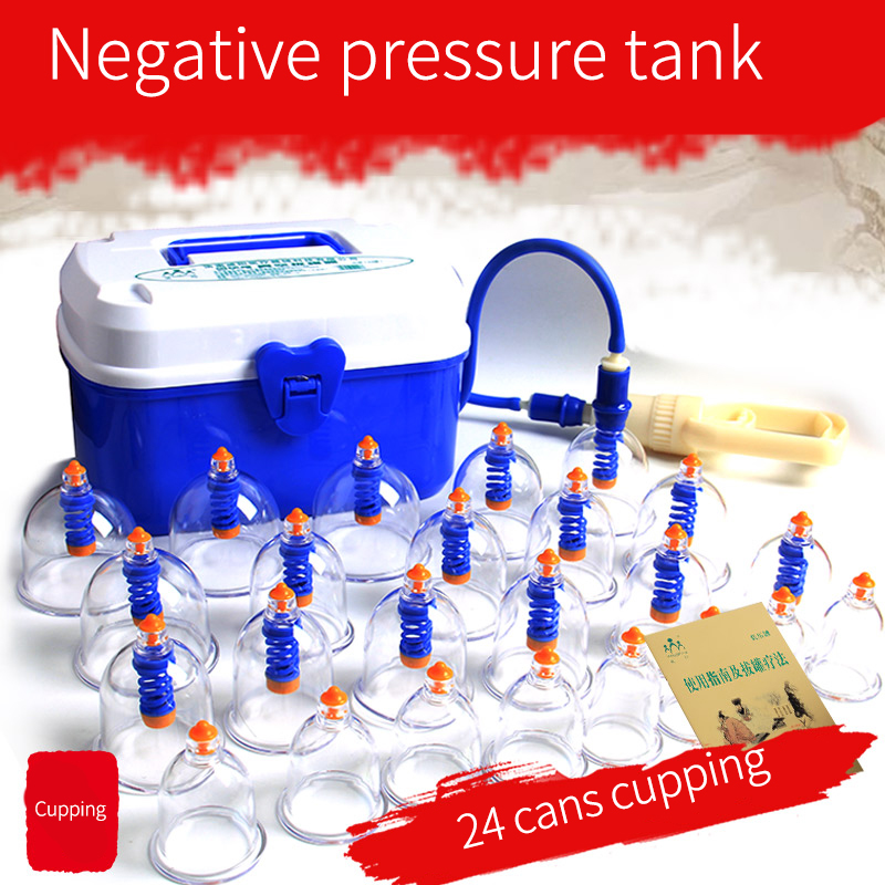 Professional Suction Cup Therapy Effective Healthy 24 Cups Medical Vacuum Cupping Set Physical Therapy Device Body