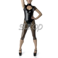 sexy latex Exotic Apparel catsuit rubber bod suit teddies woman unfiorm SUITOP