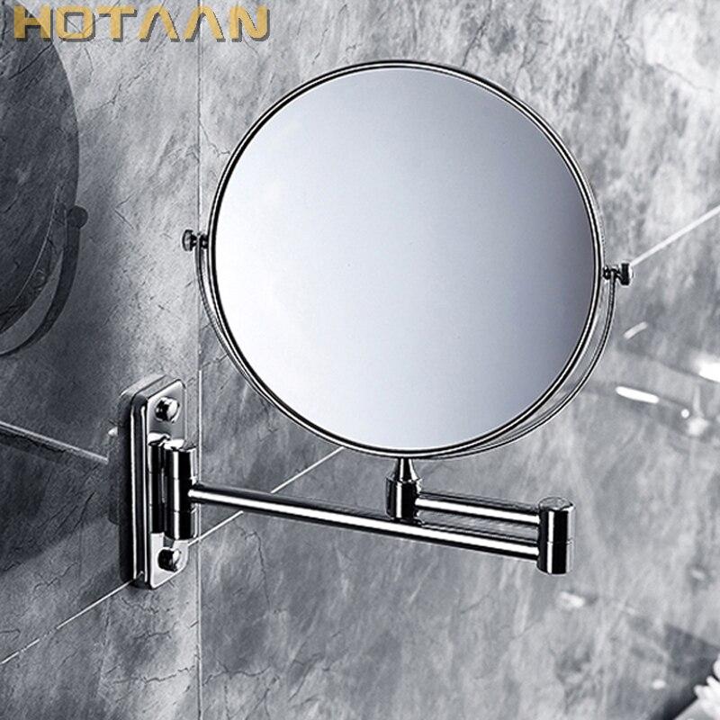 2017 Hygiène Buccale Rasage Salle De Bains Miroir Mural En Acier Inoxydable 8 Pouce Double Miroir Cosmétique (1:1 Et 1:3) livraison Gratuite