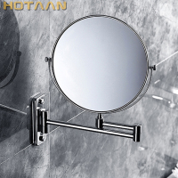 2017 Oral Hygiene Shaving Bathroom Mirror Wall Mounted Stainless Steel 8 Inch Double Cosmetic Mirror(1:1 And 1:3) free Shipping