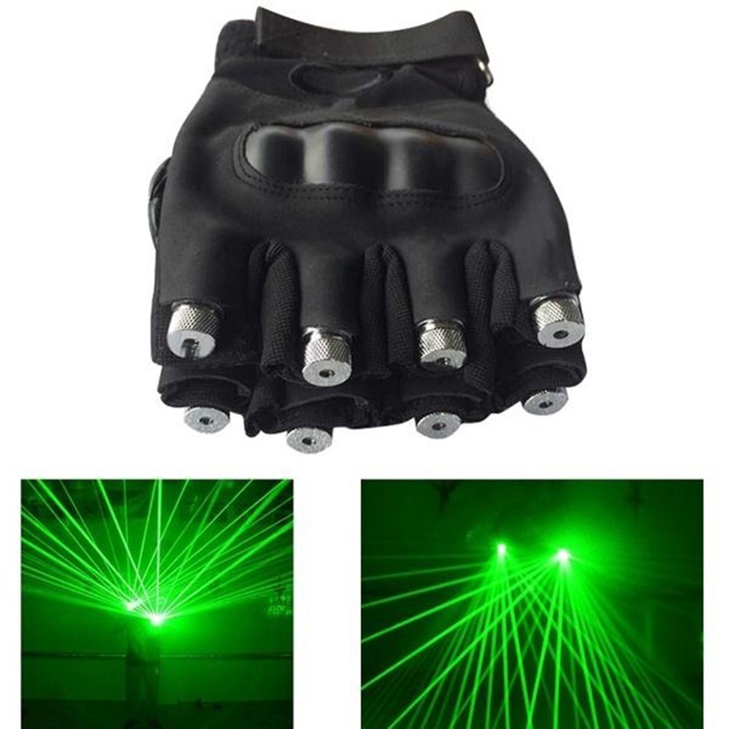 Green / Red Laser Gloves Dancing Stage Show Light with 4 pcs Lasers, LED Stage Gloves Luminous Gloves for Disco DJ Club Party стоимость