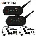 2018 Vnetphone 2pcs E6 Pro Motorcycle Helmet Bluetooth Headset Intercom 6 Riders 1200M Wireless Intercomunicador BT Interphone