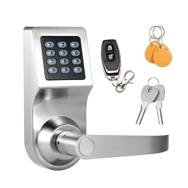 Keyless Electronic Digital Smart Door Lock Keypad Smartcode Security Grant  U0026 Control Access For Home Office