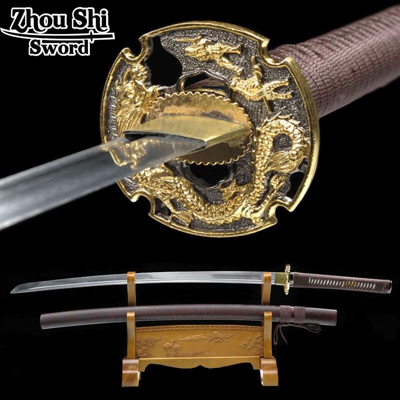 Real artesanal katana espada espada japonês samurai 1060 aço forjado ninja lembrança decorativa katana