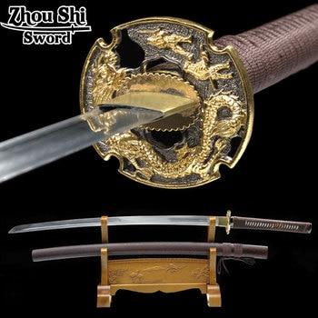 Real handmade katana sword sword Japanese sword Samurai 1060 forged steel ninja decorative souvenir katana
