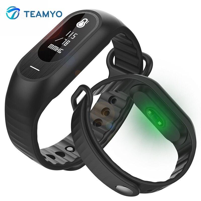 Teamyo B15P Smart Band Bracelet Blood Pressure Watch Heart Rate Monitor Pulseria Bluetooth Call Reminder Wristband