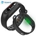 Teamyo b15p inteligente pulsera de la venda de reloj de la presión arterial monitor de ritmo cardíaco pulseria bluetooth llamada de recordatorio de pulsera a prueba de agua