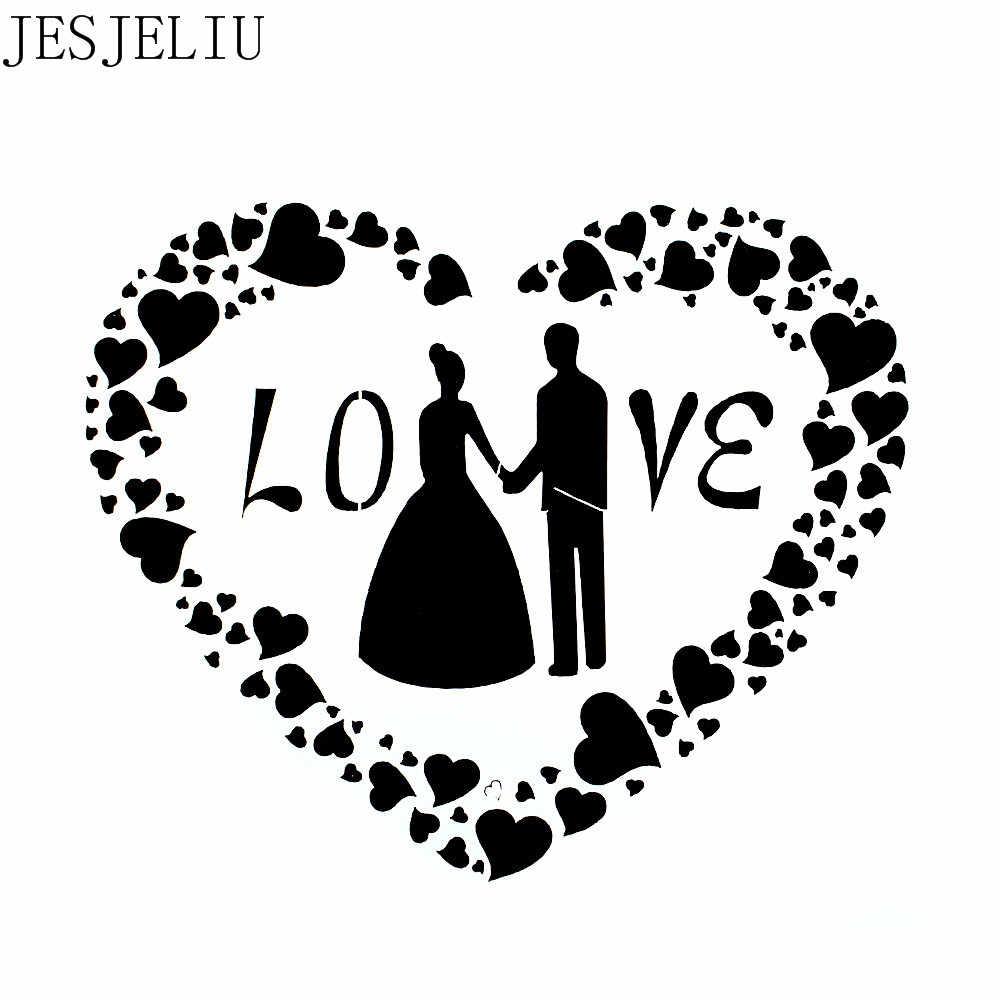 1 pz Figura di Amore Riutilizzabile Stencil Airbrush Pittura di Arte FAI DA TE Complementi Arredo Casa Rottami di prenotazione Album Mestiere a forma di Fiore