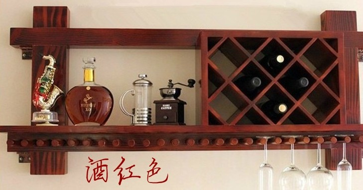 New Classical Chinese Furniture Of Pine Wood Wine Rack Wine Glass