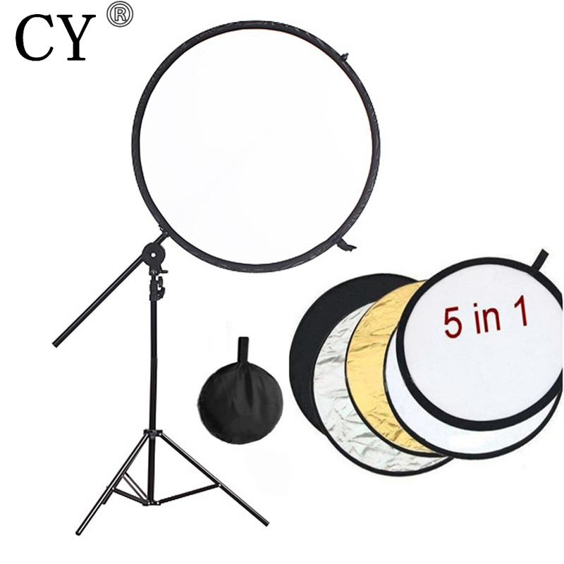 Pro Photography Studio Kits 84cm 5in1 Collapsible Studio Lighting Reflector Disc+ Backdrop Arm Grip Holder + 200cm Light Stand