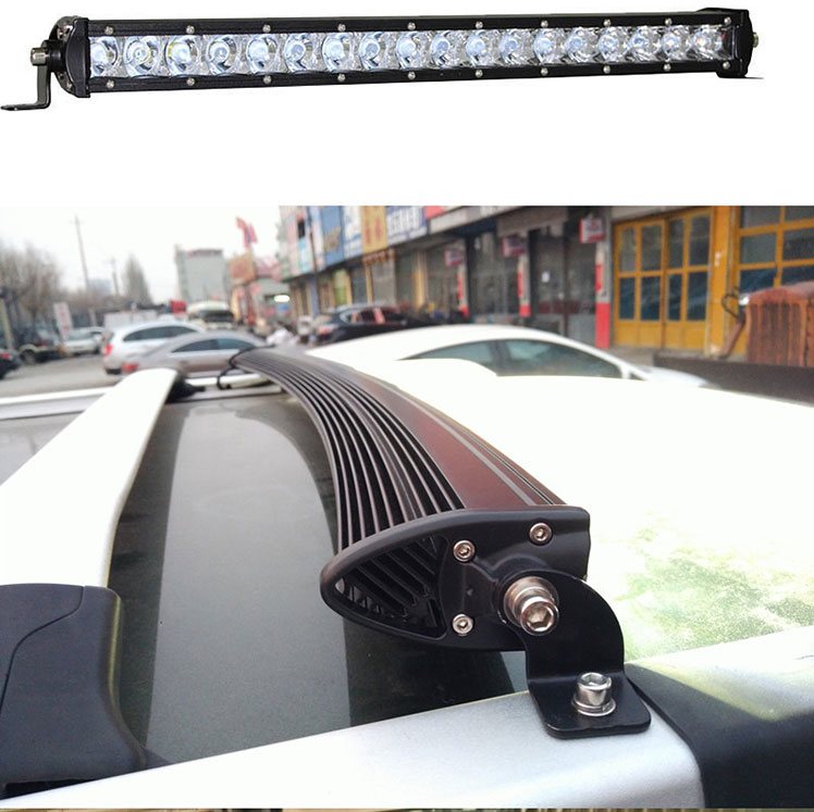 curved High Power Long Distance Super Slim Single Row Curved Work Car Light Bar Offroad Driving Lamp Auto Parts SUV  UTE 4WD ATV Boat 4x4 Trailer Camper Tractor Truck 12 Volt (6)