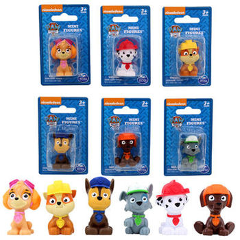 New Arrival Genuine Nickelodeon Paw Patrol Mini action Figure Rescue Team 6 kinds Rocky Zuma Skye by Spin Master New Sealed--1pc скуби ду лего