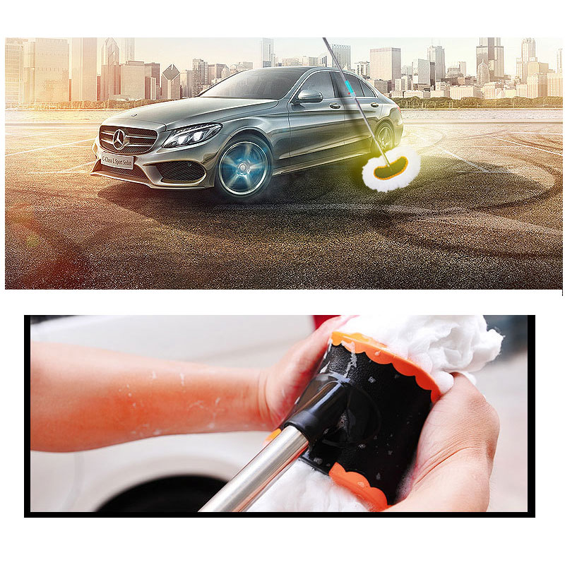 MIni car-styling 2016 Milk silk long-handled brush retractable soft-bristled pole mop car wash car washing tools hot selling