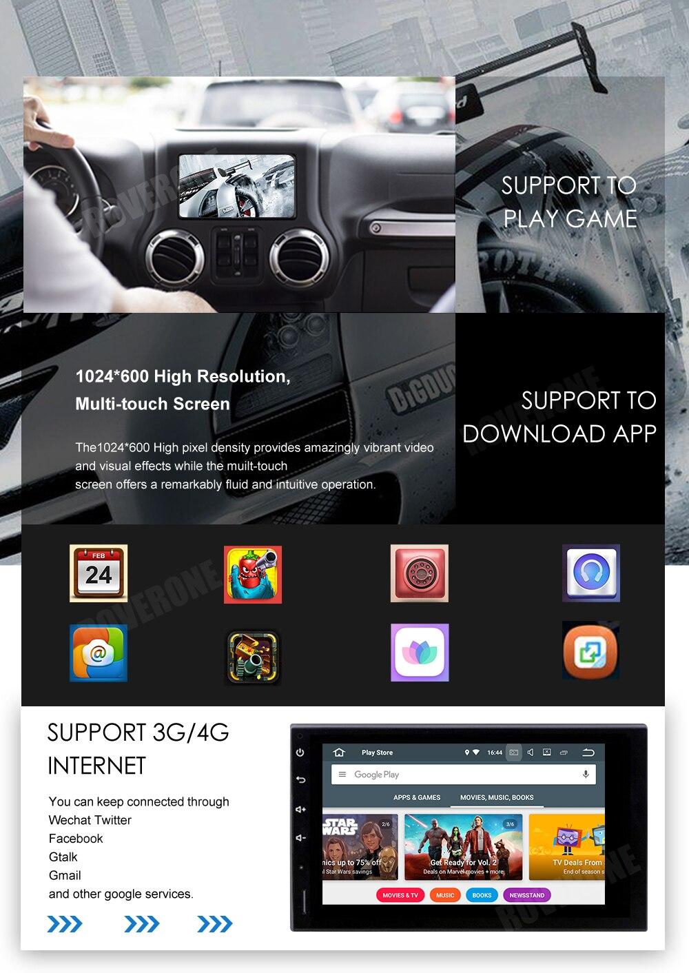 Top For Suzuki Jimny 2007 - 2013 Android 9.0 2G+16G Quad Core Autoradio Car DVD Radio Stereo GPS Navigation Multimedia Player 22