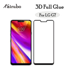 50pcs 3D Full Glue black Display Screen Protector HD Protective Film For LG G7, glass protector full glue for G7