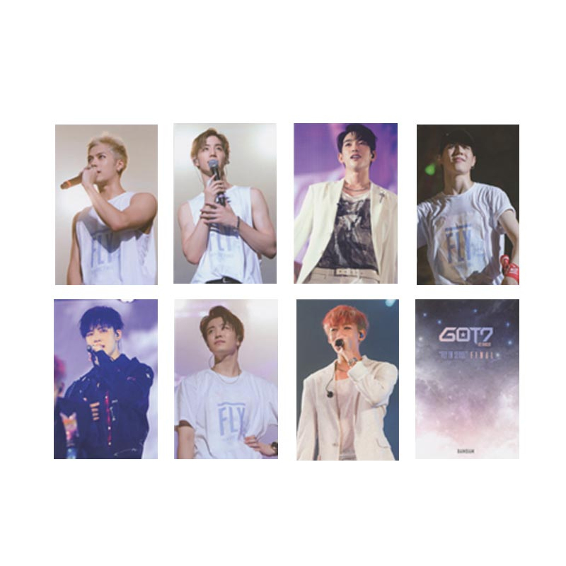Fast Deliver Kpop Got7 Fly In Seoul Album Photo Card Hip Hop Self Made Paper Cards Autograph Photocard Jewelry & Accessories
