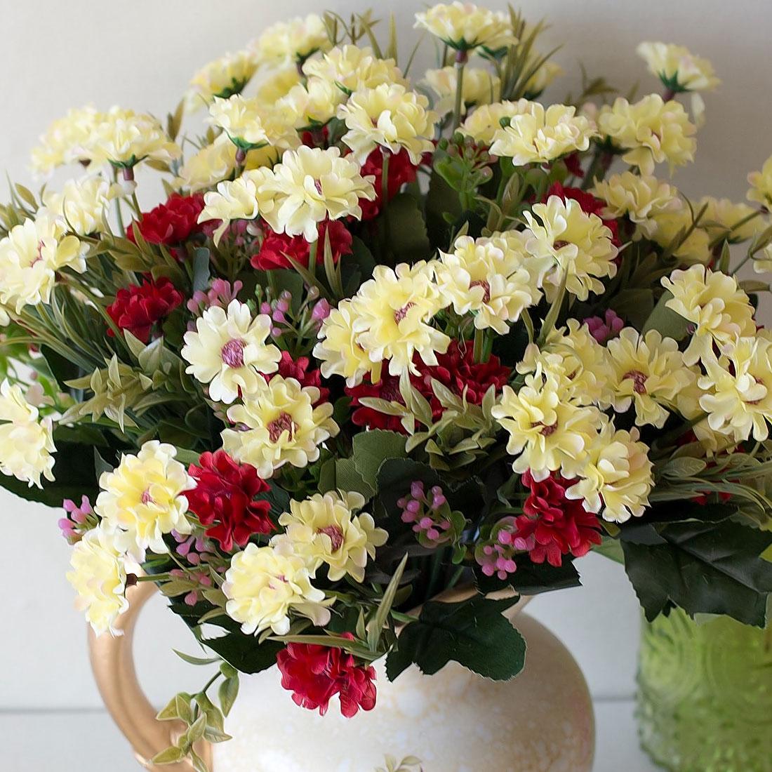 Wedding Decoration Flores 1 Bunch 18 Heads Artificial Flower Fake