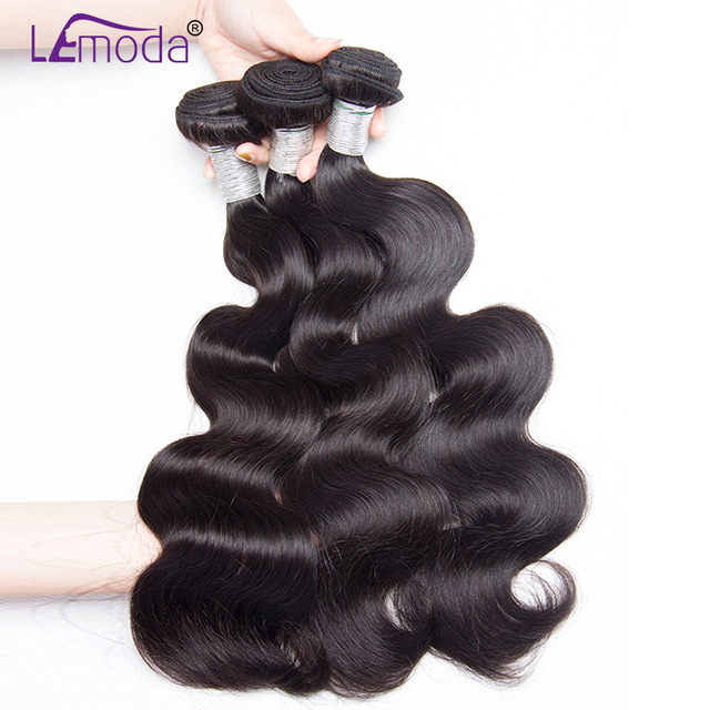 Lemoda Hair Malaysian Body Wave 3 Bundles Deals Human Hair Extension