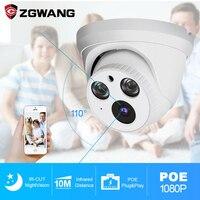 ZGWANFG 3MP H.265 Dome Camera Indoor Smart IR Cut POE IP Camera Network Camera Built in mic Remote Control Security CCTV Camera