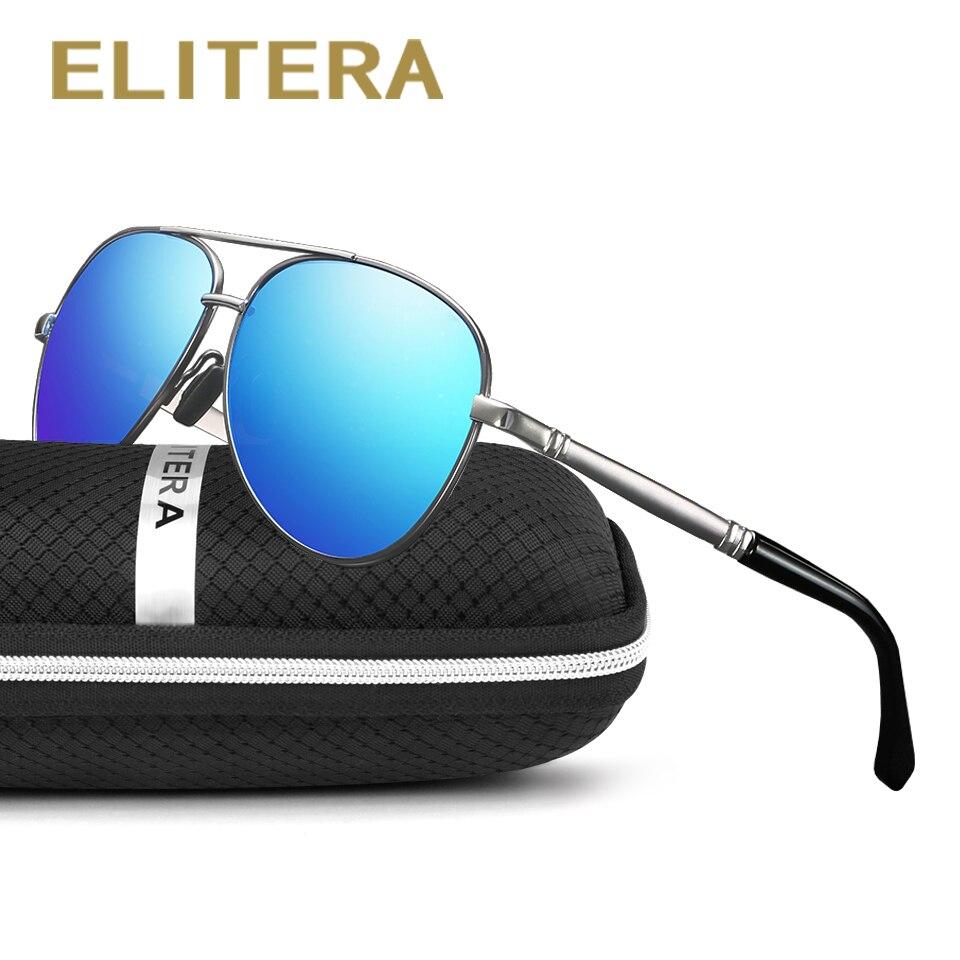 ELITERA Polarisées Hommes de lunettes de Soleil Unisexe Style Métal HD Lentille Lunettes de Soleil Top Qualité D'origine Oculos De Sol Masculino