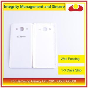 Image 2 - 10 pièces/lot pour Samsung Galaxy On5 2015 G550 G550F SM G550FY boîtier batterie porte arrière couverture boîtier châssis coque