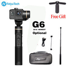 Feiyu FeiyuTech G6 Handheld gopro gimbal Update Version of G5 Wifi + Blue Tooth OLED Screen Elevation Angle for Hero 6 5 4 RX0(China)