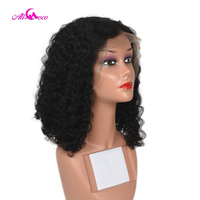 Ali Coco 13X4 Short Curly Bob Lace Frontal Human Hair Wigs With Baby Hair 8 14 Inch Brazilian Remy Hair Lace Wigs
