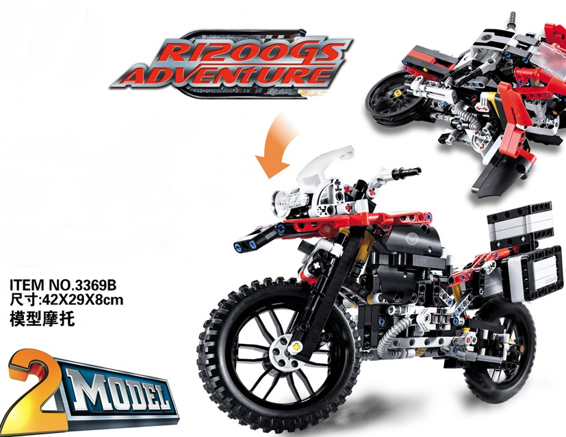 CHINA BRAND  Educational Toys for children DIY Building Blocks Technic BMW R1200 GS Adventure 42063 Compatible with Lego lego приключения на bmw r 1200 gs