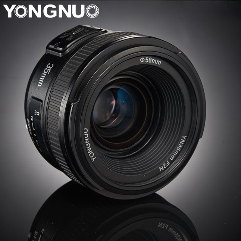 YONGNUO 35mm Lente YN35mm F2.0 AF/MF Messa A Fuoco Fissa F1.8 AF/EF Lens per Canon Nikon F montaggio D3200 D3400 D3100 D5300 per DLSR Camera