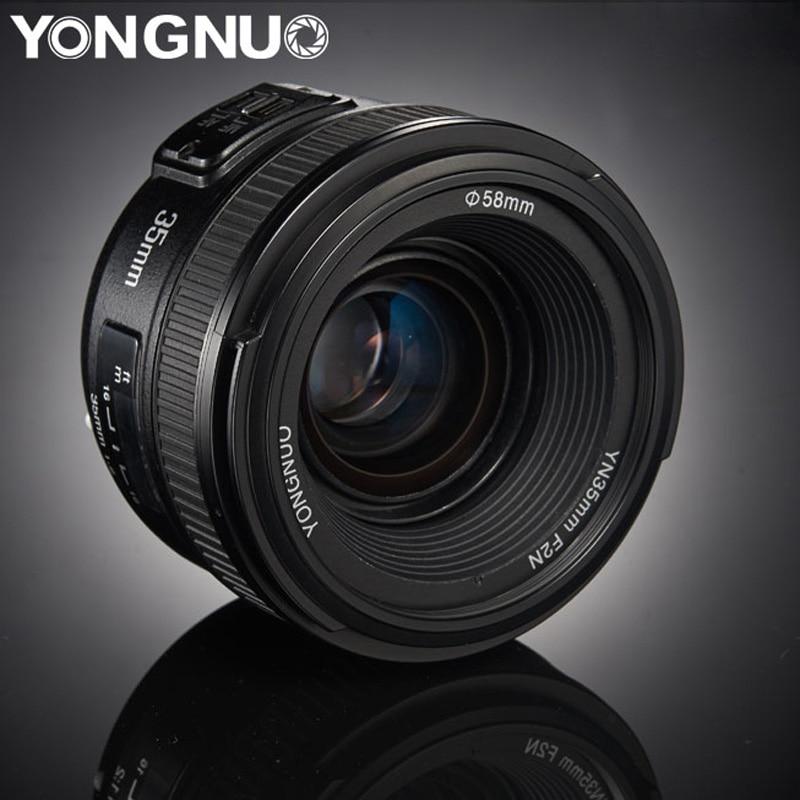 YONGNUO 35mm Lentille YN35mm F2.0 AF/MF Mise Au Point Fixe F1.8 AF/EF Lens pour Canon Nikon F montage D3200 D3400 D3100 D5300 pour DSLR Caméra