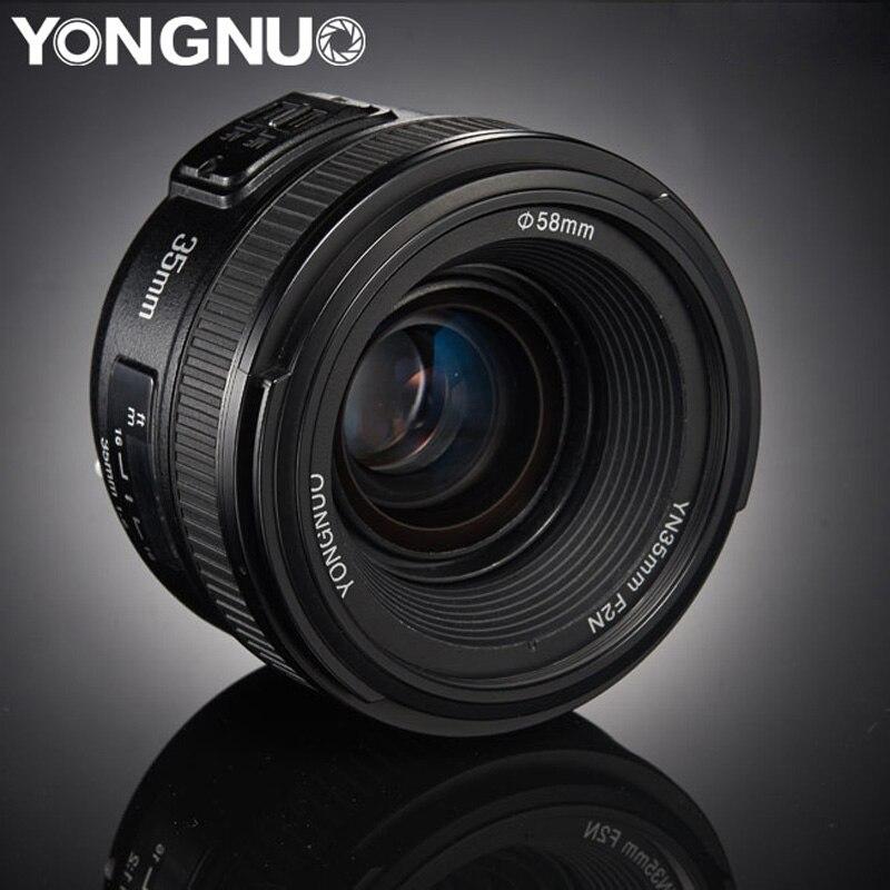 YONGNUO 35mm lentes YN35mm F2.0 AF/MF Foco Fixo Lente para Canon Lente Nikon F Mount D3200 F1.8 d3400 D3100 D5300 para DLSR Camera