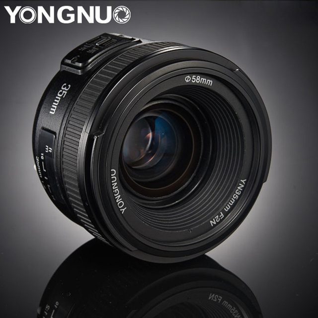 YONGNUO YN35mm العدسات F2.0 AF/MF الثابتة التركيز F1.8 عدسات لكاميرات كانون نيكون D800 D300 D700 D3200 D3300 D5100 D5200 ل DLSR كاميرا
