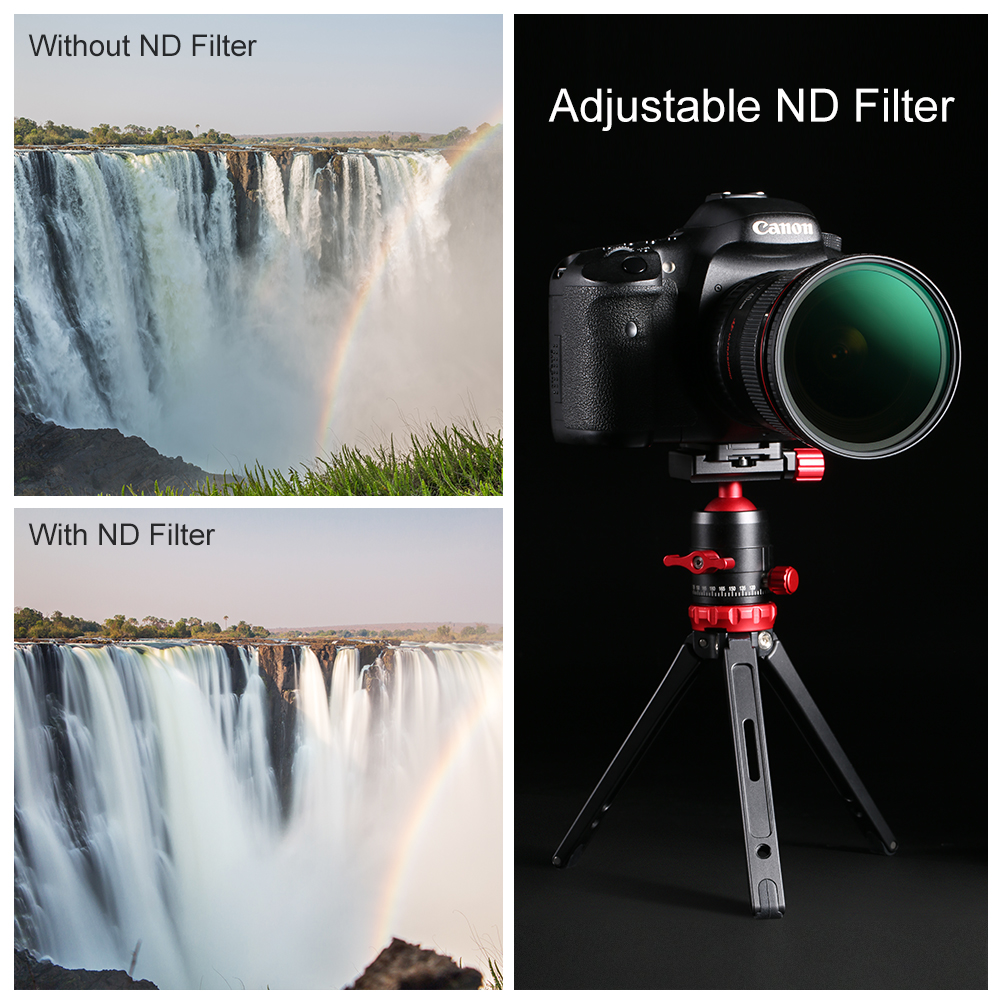 49mm 82mm Optical Glass Multiple Coated Neutral Density ND Filter for Canon//for Nikon DSLR Camera 62mm 62mm 77mm 67mm 52mm 72mm ND8 Filter Camera 55mm 58mm