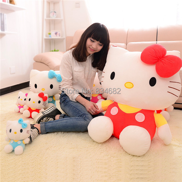 J.G Chen 80cm Hello Kitty Plush Toy Christmas Gift Big Size Good As a Kids Gift Factory Supply Many Size to choose Free Shipping free shipping imitation pearls chain flatback resin material half pearls chain many styles to choose one roll per lot