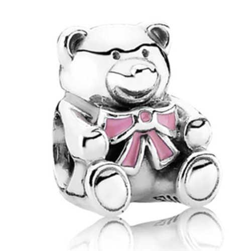 VINTAGE TRIBAL เครื่องประดับขนาดเล็กหมีสัตว์งูหอยทากดาวลูกปัด Pandora Charms กำไลและกำไลสำหรับผู้หญิง DIY