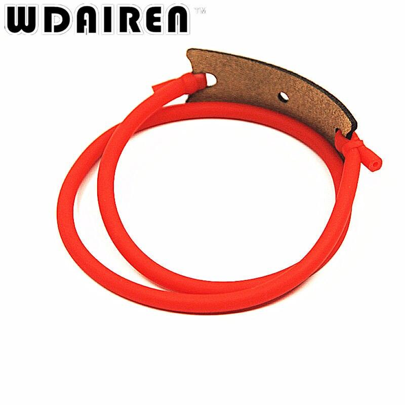 3Pcs/lot slingshot rubber band Outdoor sports playing slingshot birds sinews Slingshot leather bag mini crossbow caza HW-006
